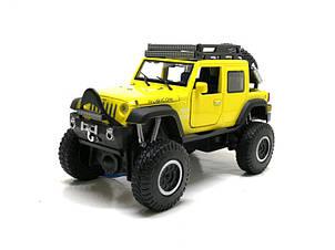 Машинка металлическая Автопром Jeep Wrangler жёлтый 6609