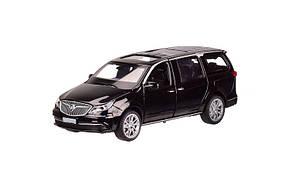 Машинка металлическая Автопром чёрная 6611