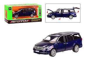 Машинка металлическая Автопром синяя 6611