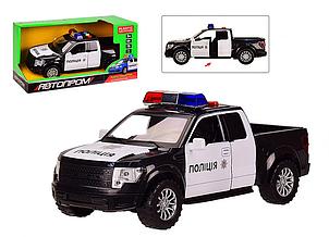 Машина полицейская Автопром со звуковыми и световыми эффектами 7966