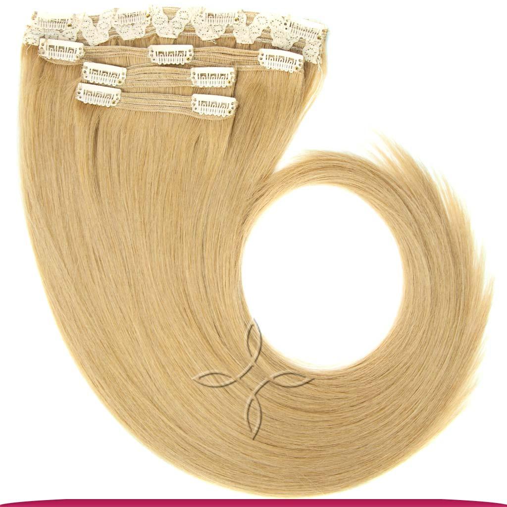 Натуральные Славянские Волосы на Заколках 55-60 см 115 грамм, Светло-Русый №14