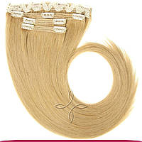 Натуральные славянские волосы на заколках 65-70 см 115 грамм, Пшеничный №14