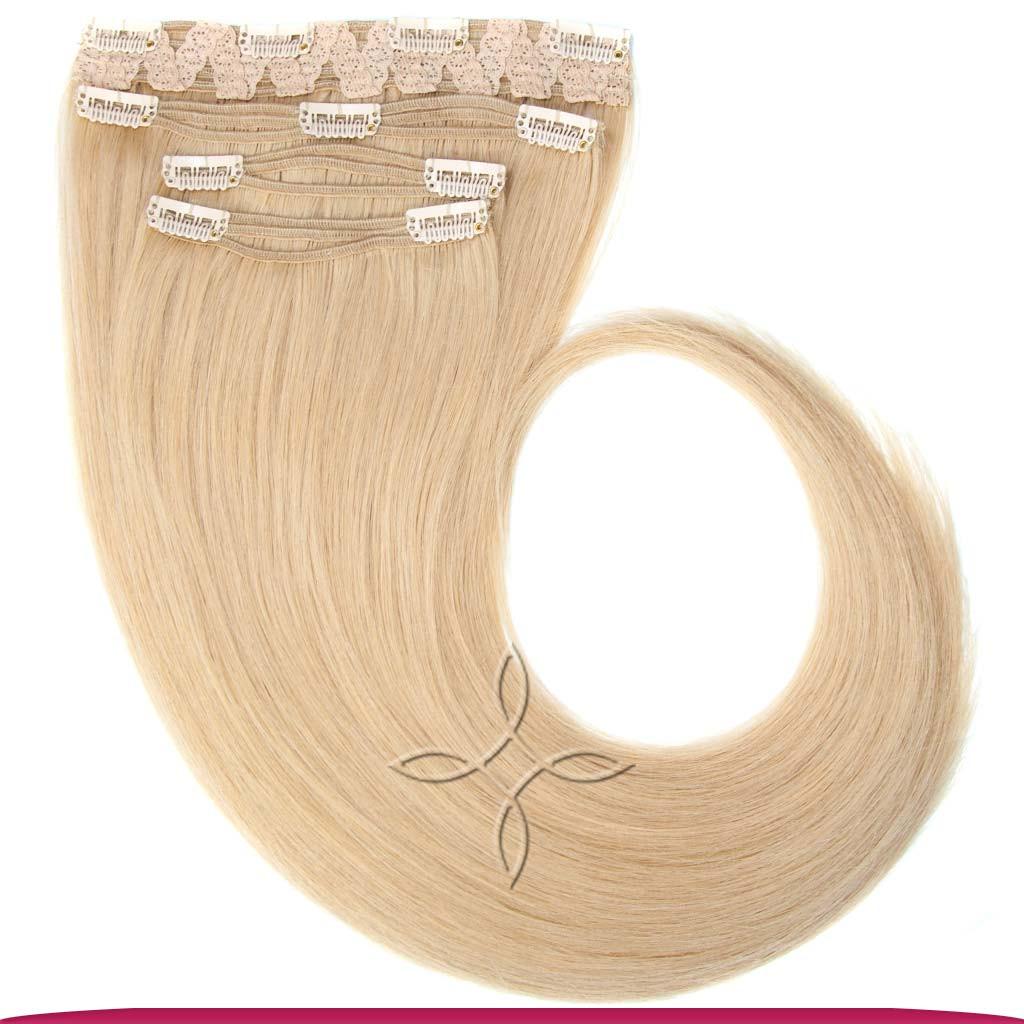 Натуральные Славянские Волосы на Заколках 45-50 см 115 грамм, Блонд №101