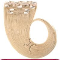 Натуральные Славянские Волосы на Заколках 55-60 см 115 грамм, Блонд №101