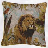 Декоративные наволочки 45х45 2шт. Arya King, хлопок/полиэстер, гобелен лев.