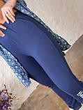 Летний костюм женский Джинсовая туника на пуговицах и трикотажные штаны Размер 48 50 52 54 56, фото 3