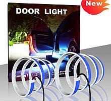 Светодиодная LED лента стробоскоп подсветки открытия дверей авто 2шт. по 1.2 м