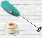 ОПТ Капучинатор Cappuccino Marker Ручний міні міксер для збивання молока чорний, фото 6