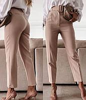 Жіночі стильні штани з поясом в комплекті, фото 1
