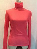 Кофта водолазка женская сетка Leagel с горлом розовая