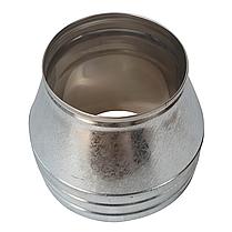 Конус-сэндвич ø110 мм 0,5 мм AISI 304 нержавейка/оцинковка для дымохода дымоходный вентиляции Версия-Люкс, фото 3