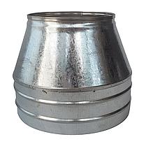 Конус-сэндвич ø110 мм 0,5 мм AISI 304 нержавейка/оцинковка для дымохода дымоходный вентиляции Версия-Люкс, фото 2