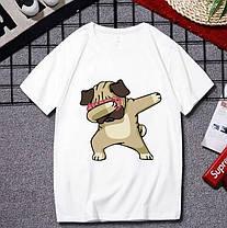 Стильна футболка з принтом, фото 3