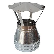 Конус-сэндвич ø120 мм 0,5 мм AISI 304 нержавейка/оцинковка для дымохода дымоходный вентиляции Версия-Люкс, фото 3