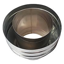 Конус-сэндвич ø120 мм 0,5 мм AISI 304 нержавейка/оцинковка для дымохода дымоходный вентиляции Версия-Люкс, фото 2