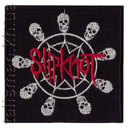 Нашивка с вышивкой SLIPKNOT 4 skulls in a circle, фото 2