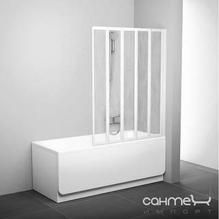 Душевые кабины, двери и шторки для ванн Ravak Шторка для ванны складывающаяся пятиэлементная Ravak VS5 белый/rain 794E010041