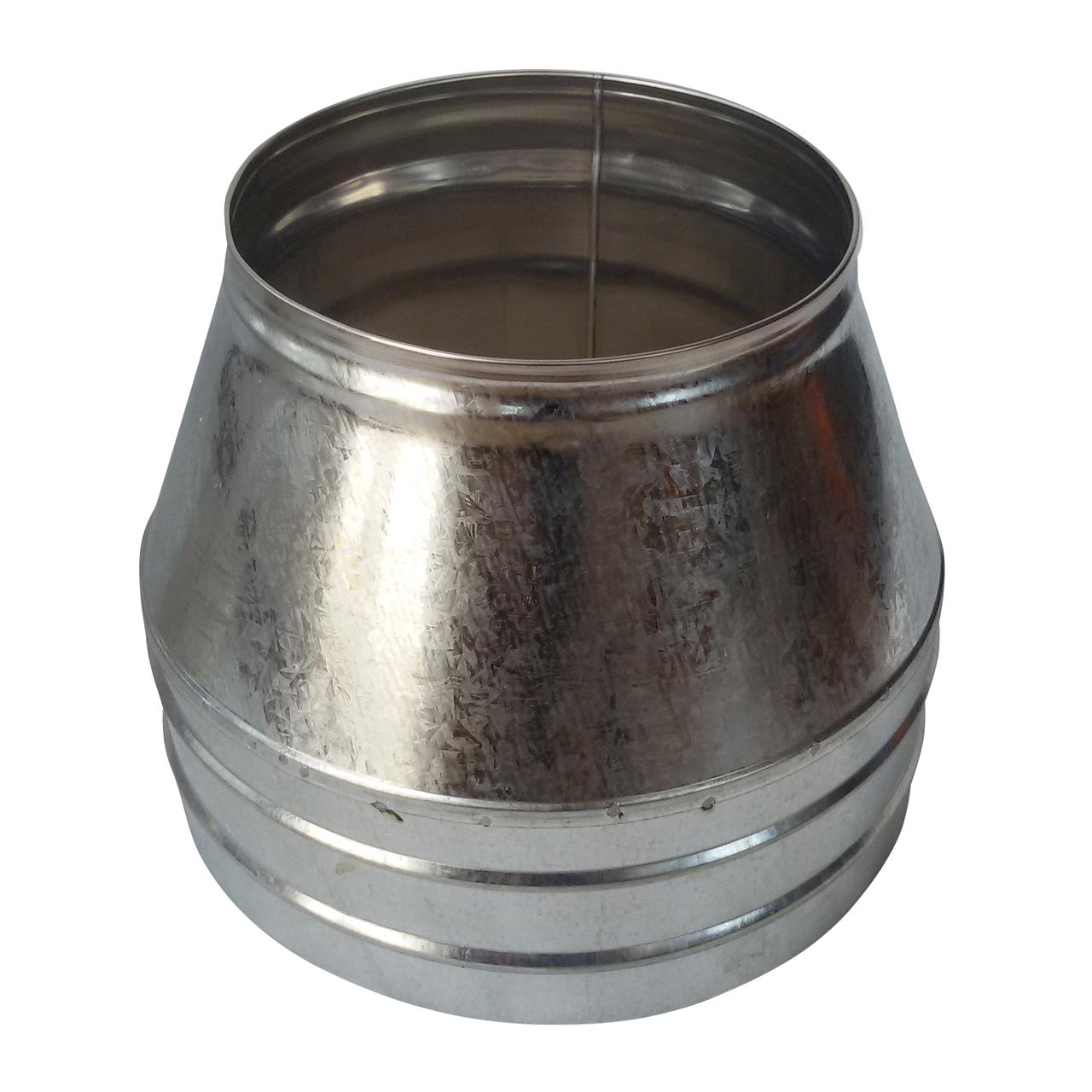 Конус-сэндвич ø150 мм 0,5 мм AISI 304 нержавейка/оцинковка для дымохода дымоходный вентиляции Версия-Люкс