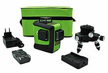 Лазерный уровень (нивелир) Fukuda 3D 93T-1-3GX зеленый луч + тренога с микроподводкой