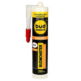 Силікон Budmonster санітарний 260 мл білий BudMonster
