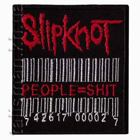 Нашивка с вышивкой SLIPKNOT-9 people=shit, фото 2