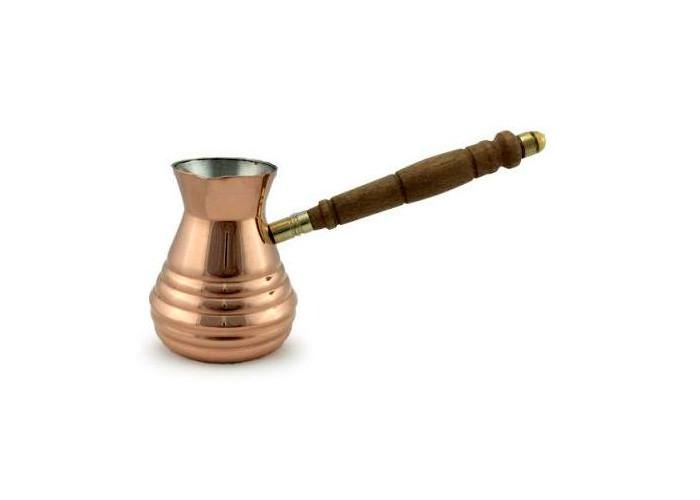Турка медная цельная со съемной ручкой Джаз 320мл