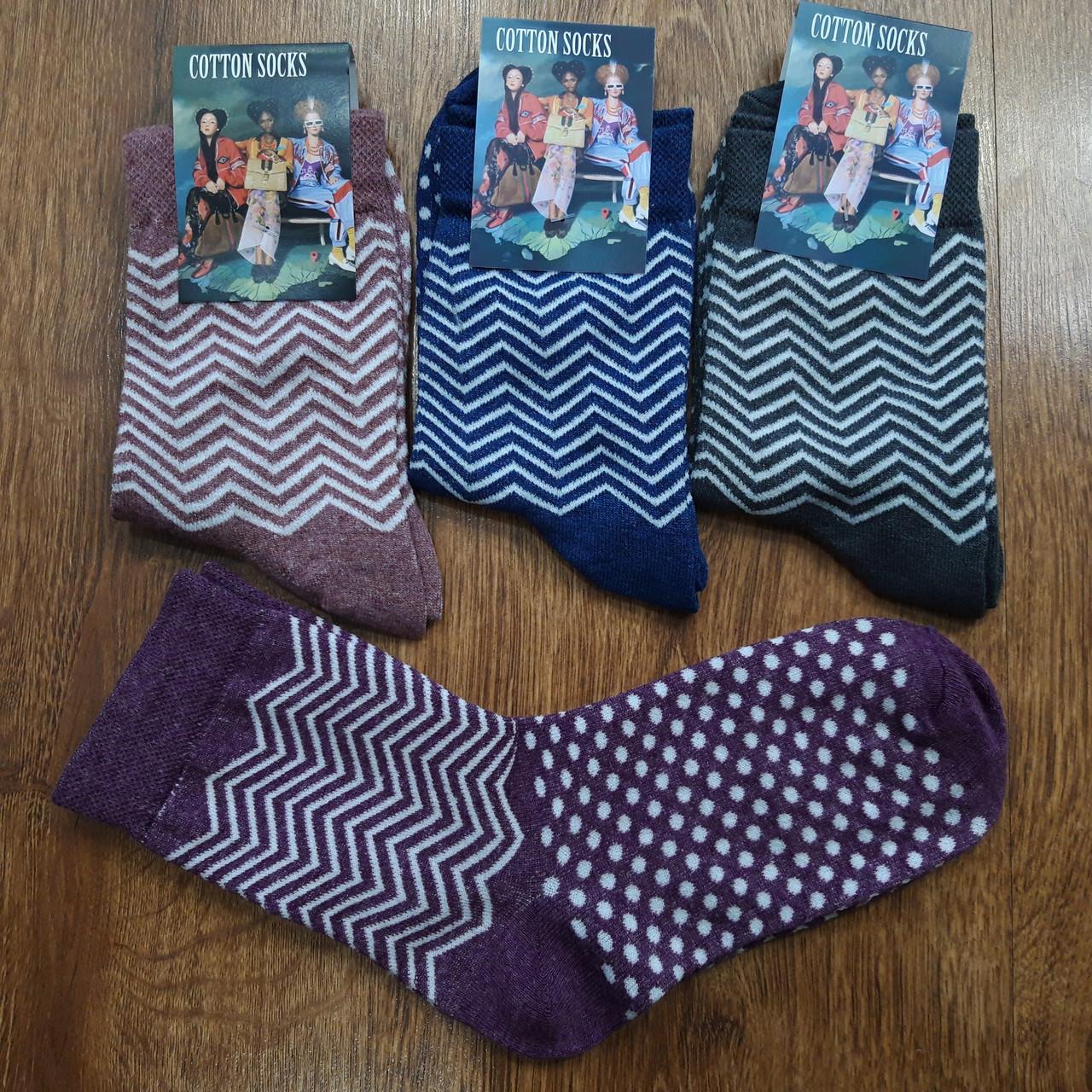 """Жіночі стрейчеві шкарпетки """"Cotton Socks"""" Туреччина 38-41"""