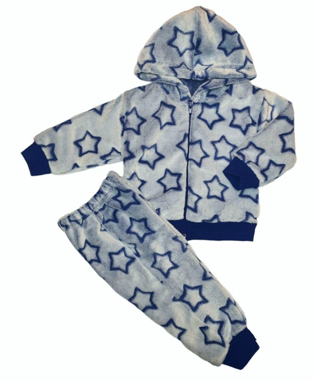 Детский теплый костюм двойка для мальчика на молнии велсофт