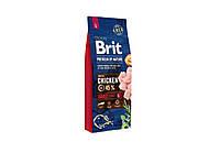 Сухий корм Brit Premium Adult L для собак великих і середніх порід , c куркою 15 кг