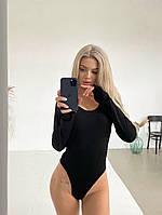 Стильне жіноче боді з довгим рукавом, фото 1
