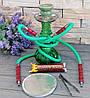 Кальян Ѕмоке на дві персони зелений 26 см з вугіллям і фольгою