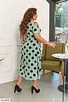 Сукня софт в горошок з мереживом (Батал), фото 6