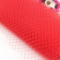 Вуаль шляпная, красный (50 см)
