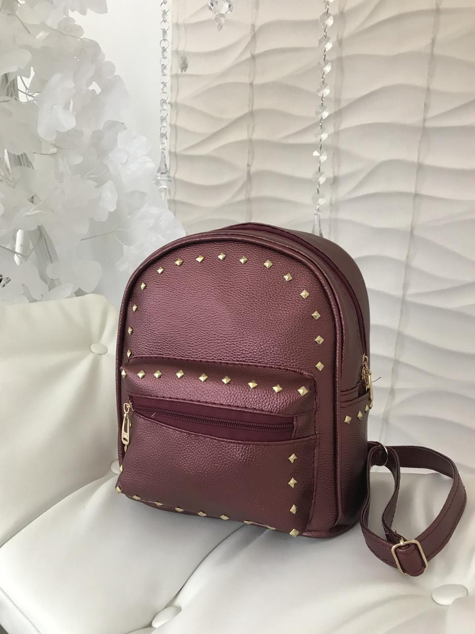 Женский рюкзак R-114-4, бордовый
