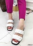 Жіночі шльопанці з кісками на квадратній підошві, фото 2