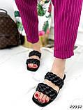 Жіночі шльопанці з кісками на квадратній підошві, фото 3