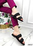 Жіночі шльопанці з кісками на квадратній підошві, фото 5
