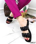 Жіночі шльопанці з кісками на квадратній підошві, фото 6
