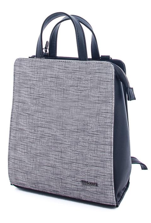 Молодежный каркасный сумка-рюкзак WeLassie 44803, серый