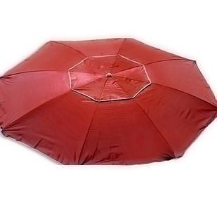 Зонт пляжний антиветер d2.0м срібло Stenson MH-2684 червоний