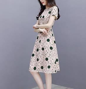 Стильне легке плаття оригінальної забарвлення, фото 2