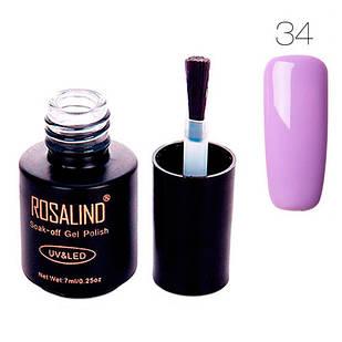 Гель-лак для нігтів манікюру 7мл Розалінда, шелак, 34 світло-фіолетовий