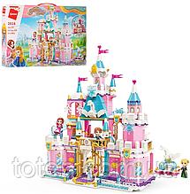 """Конструктор для дівчинки Qman """"Сніговий замок принцеси"""" 801 деталь 2616"""