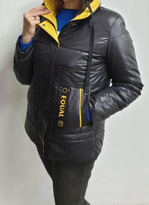 Куртка жіноча демісезонна весна-осінь 48-58 розмір опт роздріб