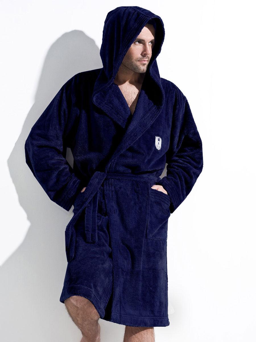 Мужской халат с капюшоном L&L Iwo granat