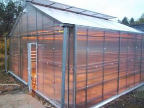 Двускатные теплицы 6х6 под поликарбонат 4 мм стандарт