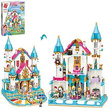 Конструктор Замок принцеси з меблями та фігурками 5 штук, 1169 деталей, Qman 32015