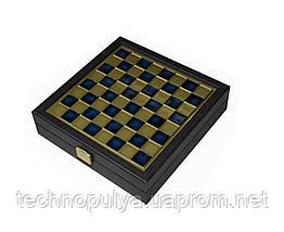 Шахматы Manopoulos Византийская империя в деревянном футляре 20 х 20 см Синие (SK1CBLU)