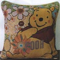 Декоративные наволочки 45х45 2шт. Arya Winnie Pooh, хлопок/полиэстер, гобелен Вини Пух цветочный.