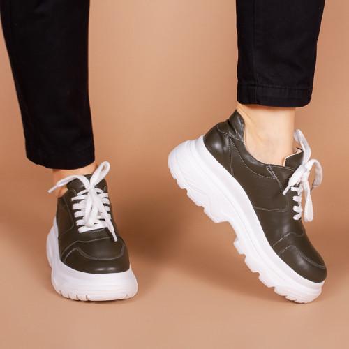Женские модные кроссовки из натуральной оливковой кожи . Размер 36-40. Цвет на выбор
